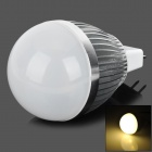 GX 5.3 3W 240lm 3500K 3-LED Warm White Light Bulb Lamp - Silver (12V)