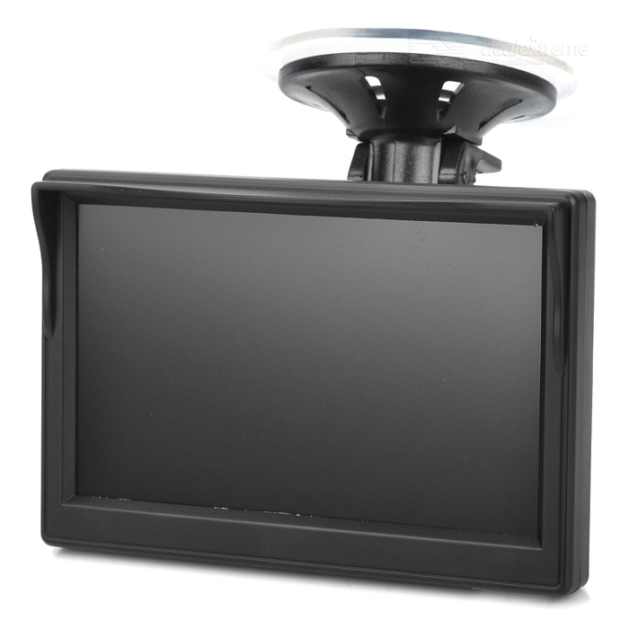 "662L 5"" Screen CCD 2-CH Car Rearview Monitor + Camera Kit w/ IR Night Vision - Black"