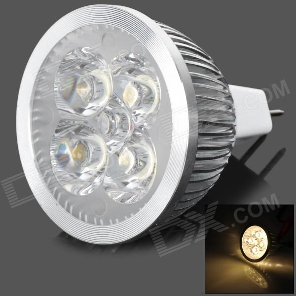 JR-MR16-4W-WW MR16 / GX5.3 4W 370lm 3500K 4-LED Warm White Light Spotlight - Silver (12V)