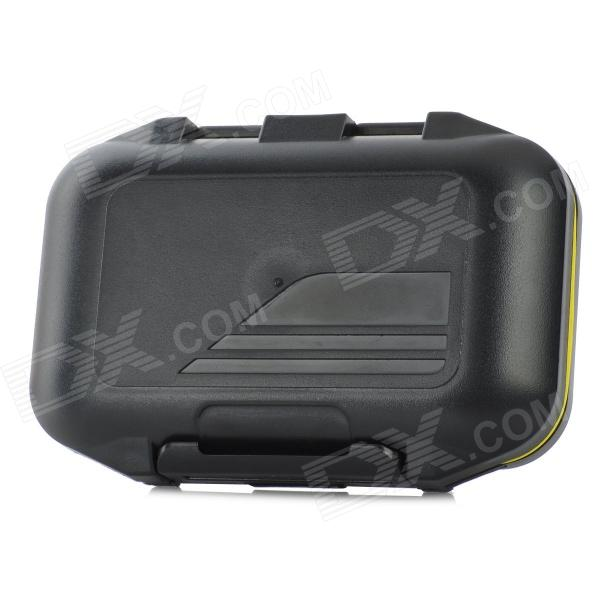 Useful 6-cell Waterproof Fishing Tool Plastic Storage Box - Black