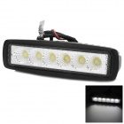 Impermeable 18W 1440lm 6500K 6-LED de Trabajo del coche blanco Light Bar (10 ~ 30V)