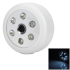 SZCR-C30C 0.4W 90lm 6000K 6-LED Cold White Voice Control Sensor / Induction Lamp - White (3 x AA)