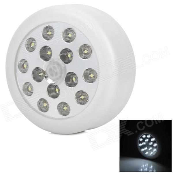 1W 120lm 6000K 15-LED Cool White Voice Control Sensor Lamp