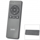 2-In-1 2.4GHz Wireless Dual Side 41-Key Keyboard + Air Mouse w/ Mic - Black