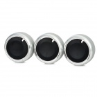 Car Air Conditioner Rotary Knob Switch for Focus / New ZhiSheng - Silver + Black (3 PCS)