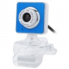 8.0MP PC Camera USB Webcam - White + Blue