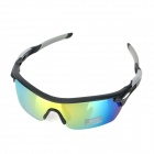 CARSHIRO 9369 Cycling UV400 Protection Polarized Sunglasses Goggles - Black + Grey