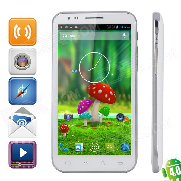 "4.2 Bar IProgrammes i2000 Quad-Core Android Phone w / 5.7 "" IPS , Wi- Fi, GPS et Dual-SIM - Blanc"