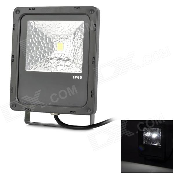 JR-10W-W-TGD Waterproof Fins Style 10W 800lm 6300K 9-LED White Light Project Lamp - Black (85~265V)