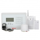 "WOLF-GUARD YL-007M2E 2.5"" LCD Anti-Theft Home Touch-Key GSM Security Alarm System Set - White"