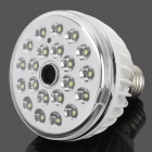 E27 3.8W 260lm 21-LED White Light Sound Control Lamp - White (85-265V)