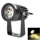 UltraFire 3W 180lm 3500K 3-LED Warm White Light Spotlight - Black (12V)
