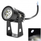 UltraFire 3W 180lm 6000K 3-LED White Light Spotlight - Black (12V)