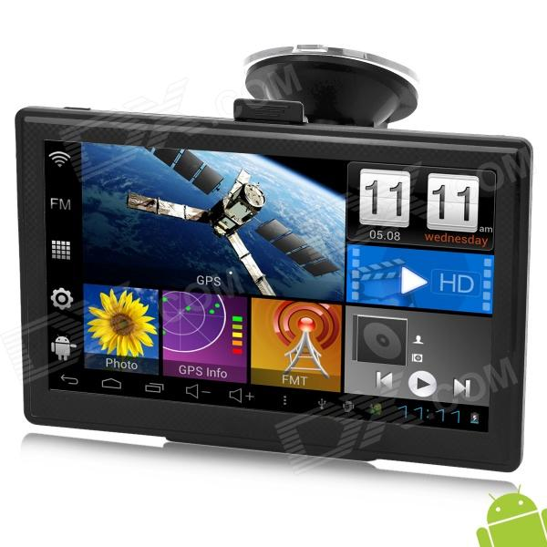 IPUM7053AV 7 LED Android 4.0 Car GPS Navigator w/ AV-IN - Black (8GB Memory + Russian Map)