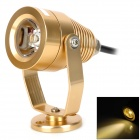 UltraFire 3W 180lm 3000~3200K 1-Epistar LED Warm White Light Spotlight - Golden (12V)