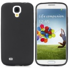 Stylish PVC Back Case w/ Stylus Pen for Samsung Galaxy S4 / i9500 - Black