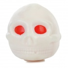 Red-eyed Skull Shape Stress Reliever Silicone Squeeze Toy - White