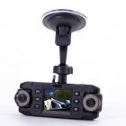 "LSON F100 2.0"" TFT Wide Angle 3.0MP Dual-Camera HD Car DVR Camcorder w/ AV-Our - Black"