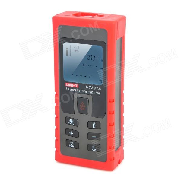 UNI-T UT391A Laser Distance Meter - Red + Deep Grey (70m) acosun md916 lcd display data hold digital paper moisture meter