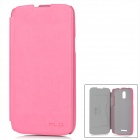 KAILAIDENG Protective PU Leather + Microfiber Flip-Open Case for CoolPad 7295 - Deep Pink