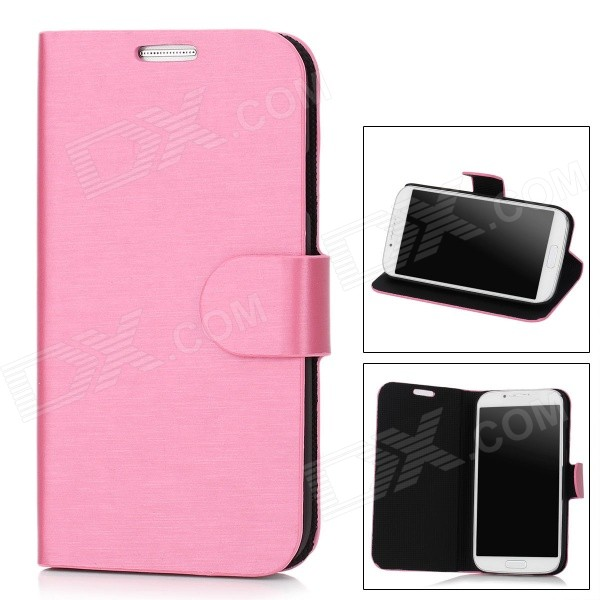 Stylish Flip-Open PU Case for Samsung Galaxy S4 / i9500 - Orchid
