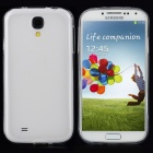 Protective TPU Soft Back Case + Waterproof Bag for Samsung Galaxy S4 i9500 - White