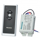 1-Channel Microcomputer Remote Control Switch - Black + Silver (1 x 27A)