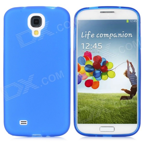 Protective PVC Back Case + Touch Screen Styles / Pen + Strap for Samsung i9500 - Blue