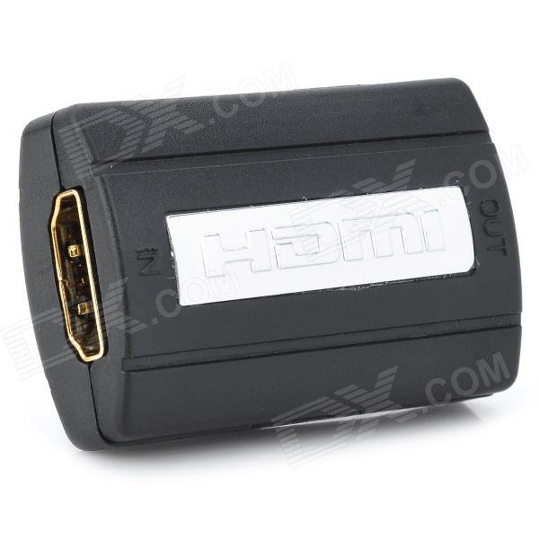 HDMI Female to Female Repeater Extender - Black + Silver
