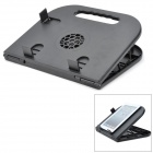 LS02 USB Folding Stand w/ Cooling Fan + Mouse Pad for iPad / iPad 3 / Notebook