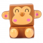Cute Monkey Style Monitor Cleaner & Keyboard Brush - Brown + Deep Pink