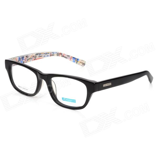 купить MINGDUN 9213 Fashion Myopia Cellulose Acetate Frame PC Lens Eyeglasses - Black недорого