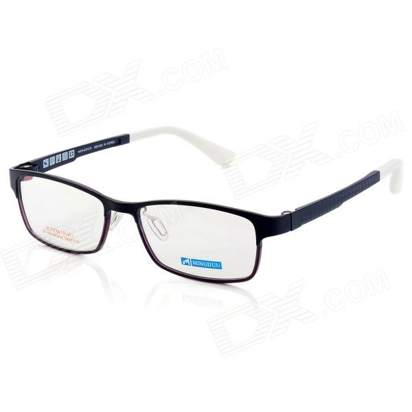 купить MINGDUN 2318 Fashion Ultra-Light Tungsten Titanium Frame PC Lens Eyeglasses - Blue + White недорого