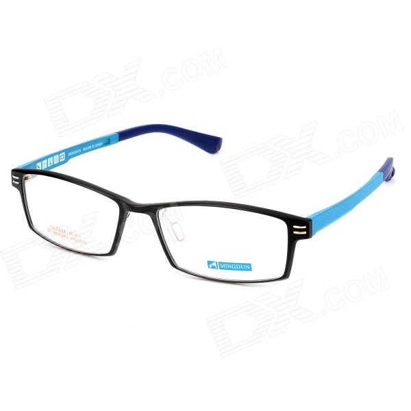 MINGDUN 2320 Fashion Ultra-Light Tungsten Titan Rahmen PC-Brille - Schwarz + Blau