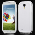 Protective TPU Bumper Frame for Samsung i9500 - White + Transparent
