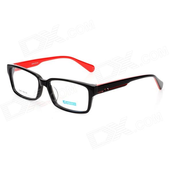 купить MINGDUN 9245 Fashion Cellulose Acetate Myopia Frame PC Lens Eyeglasses - Black + Red недорого