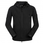 Men's Waterproof Windproof Polyester + Spandex Outdoor Jacket - Black (Size-XL)