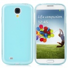 Protective TPU Soft Back Case + Waterproof Bag for Samsung Galaxy S4 i9500 - Turquoise Blue