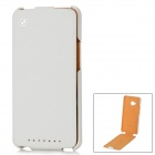 HOCO Top-Folio Open Protective Cowhide Case for HTC One M7 - White
