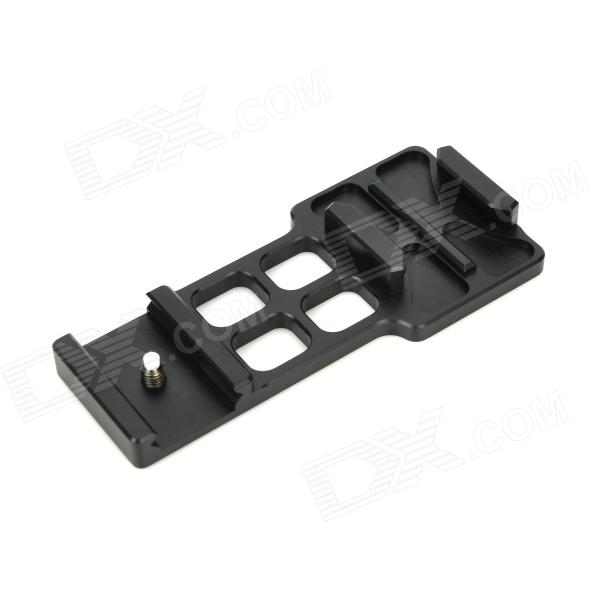 Aluminum Alloy 20mm Rail Mount for Camcorder GoPro Hero 2 / 3 - Black aluminum alloy 20mm rail mount for camcorder gopro hero 2 3 black