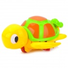 Cute Turtle Mom w/ Kid Style Floating Plastic Bath Toy for Baby - Yellow + Green