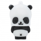 Cartoon Square Face Panda Style USB 2.0 Flash Drive - Black + White (4GB)