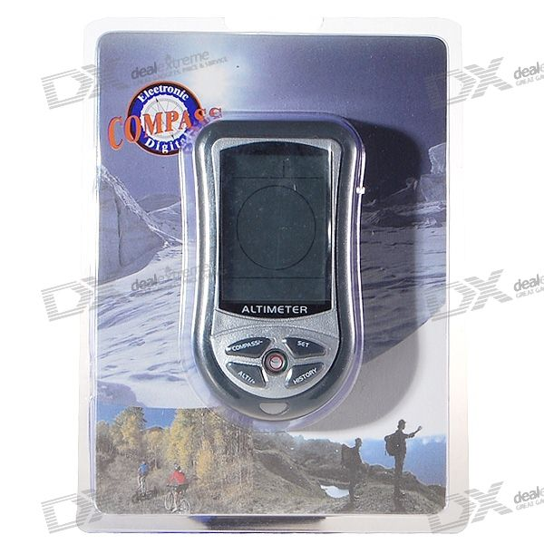 "2.2"" Blue Backlit LCD Portable Altimeter/Barometer/Compass/Thermometer/Weather Forecast"