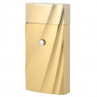 CL615A Fashionable 3D Ripple Surface Electronic Induction Windproof Butane Gas Jet Lighter - Golden