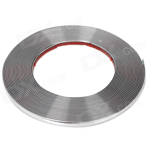 Bil dekoration ABS + galvanisering Chrome DIY klistermärke Strip - Silver (14,5 m)