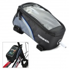 "ROSWHEEL 12496M-B5 4.8"" Bike Bag w/ Earphone Jack - Black + Blue"