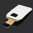 Stylish Protective PU Leather Pouch Case for Iphone 5 / Iphone 4 / Iphone 4S - White