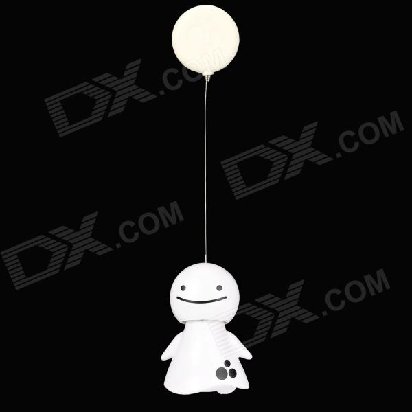 3L-77530 Solar Power Cute Smiling Face Doll Shaking Head Decoration Toy - White
