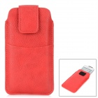 Stylish Inline PU Leather Case w/ Velcro Buckle for Iphone 4 / 4S / 5 - Red