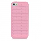Protective Bricks Grain Back Case for Iphone 5 - Pink